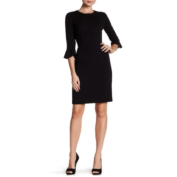 0f7b4f868dfc Donna Morgan Dresses   Ruffle Cuff Sheath Dress   Poshmark